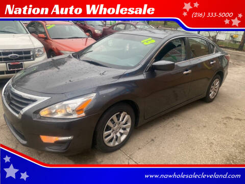 2013 Nissan Altima for sale at Nation Auto Wholesale in Cleveland OH