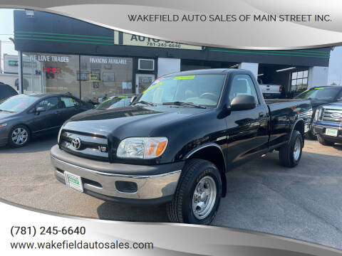 2006 Toyota Tundra for sale at Wakefield Auto Sales of Main Street Inc. in Wakefield MA