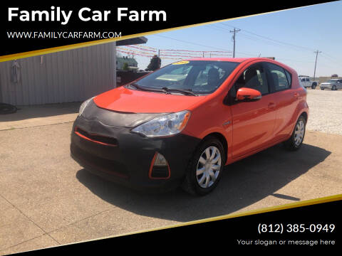 2013 Toyota Prius c for sale at Family Car Farm in Princeton IN