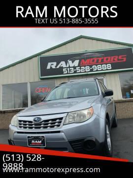 2012 Subaru Forester for sale at RAM MOTORS in Cincinnati OH