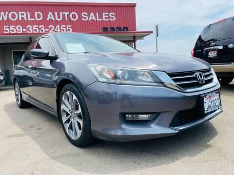 2014 Honda Accord for sale at Credit World Auto Sales in Fresno CA