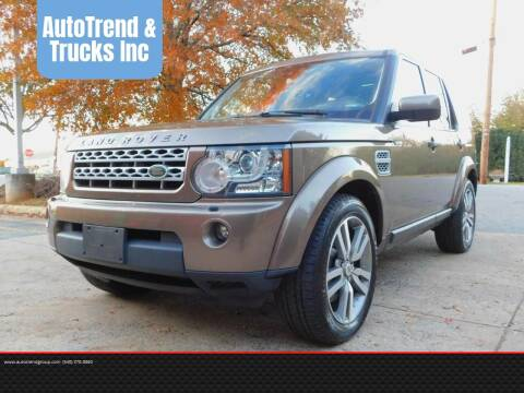 2011 Land Rover LR4 HSE for sale at AutoTrend & Trucks Inc in Fredericksburg VA