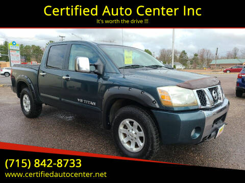 2005 Nissan Titan for sale at Certified Auto Center Inc in Wausau WI