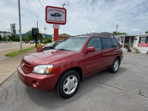 2006 Toyota Highlander for sale at Ford's Auto Sales in Kingsport TN