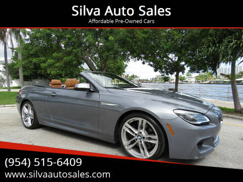 2017 BMW 6 Series for sale at Silva Auto Sales in Pompano Beach FL