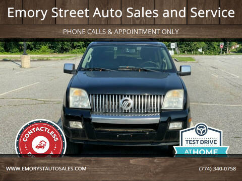2007 Mercury Mountaineer for sale at Emory Street Auto Sales and Service in Attleboro MA