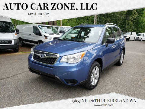 2016 Subaru Forester for sale at Auto Car Zone, LLC in Kirkland WA