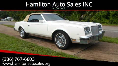 1984 Buick Riviera for sale at Hamilton Auto Sales INC in Port Orange FL