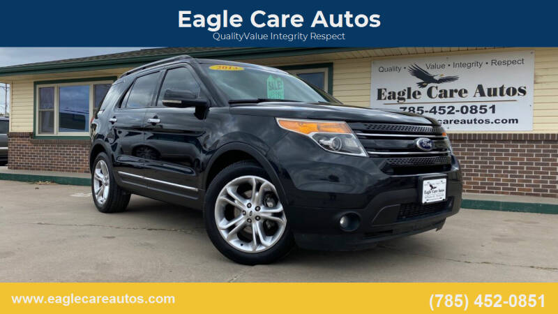 2013 Ford Explorer for sale at Eagle Care Autos in Mcpherson KS