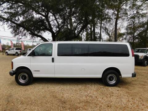 2002 Chevrolet Express Passenger for sale at Commercial Vehicle Sales in Ponchatoula LA