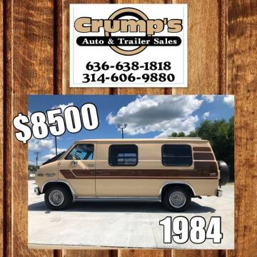 1984 Chevrolet Chevy Van for sale at CRUMP'S AUTO & TRAILER SALES in Crystal City MO