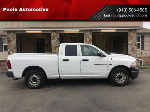 2011 RAM Ram Pickup 1500 for sale at Poole Automotive in Laurinburg NC