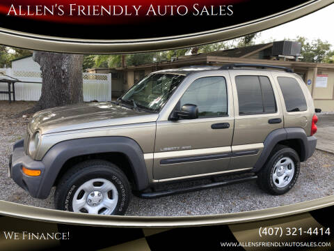 2003 Jeep Liberty for sale at Allen's Friendly Auto Sales in Sanford FL