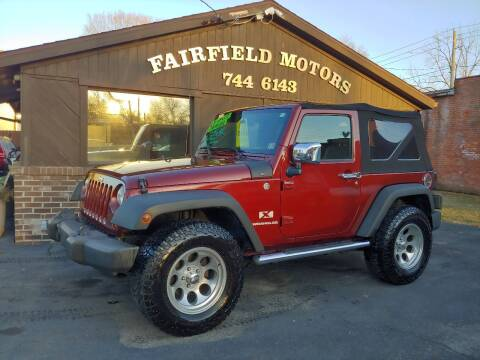 2007 Jeep Wrangler for sale at Fairfield Motors in Fort Wayne IN