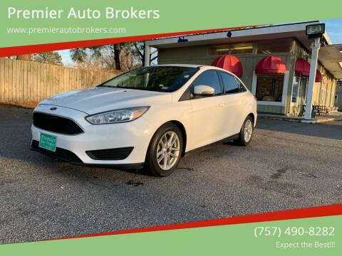 2016 Ford Focus for sale at Premier Auto Brokers in Virginia Beach VA
