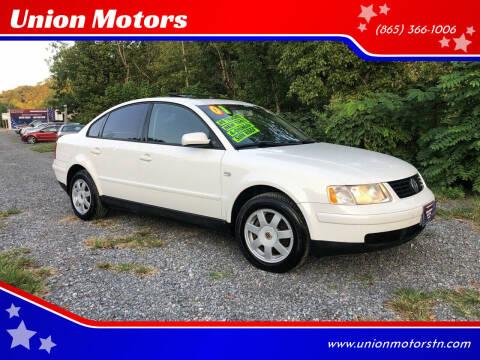 2001 Volkswagen Passat for sale at Union Motors in Seymour TN