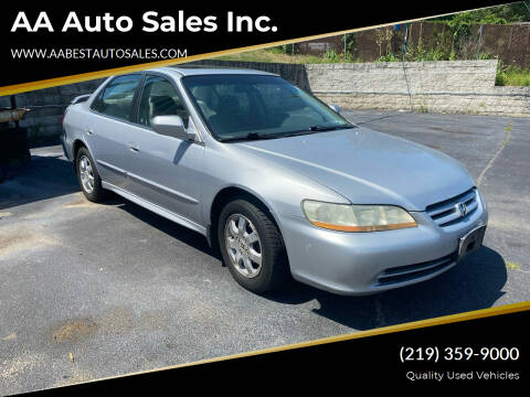 2002 Honda Accord for sale at AA Auto Sales Inc. in Gary IN