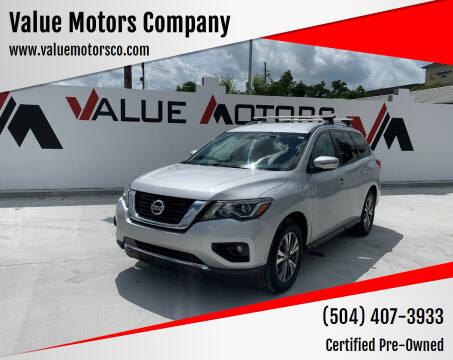 2017 Nissan Pathfinder for sale at Value Motors Company in Marrero LA