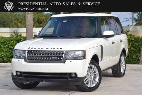 2010 Land Rover Range Rover for sale at Presidential Auto  Sales & Service in Delray Beach FL
