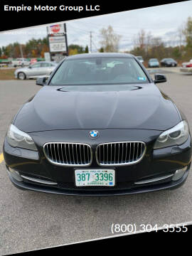 2013 BMW 5 Series for sale at Empire Motor Group LLC in Plaistow NH