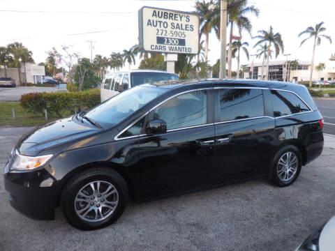 2013 Honda Odyssey for sale at Aubrey's Auto Sales in Delray Beach FL