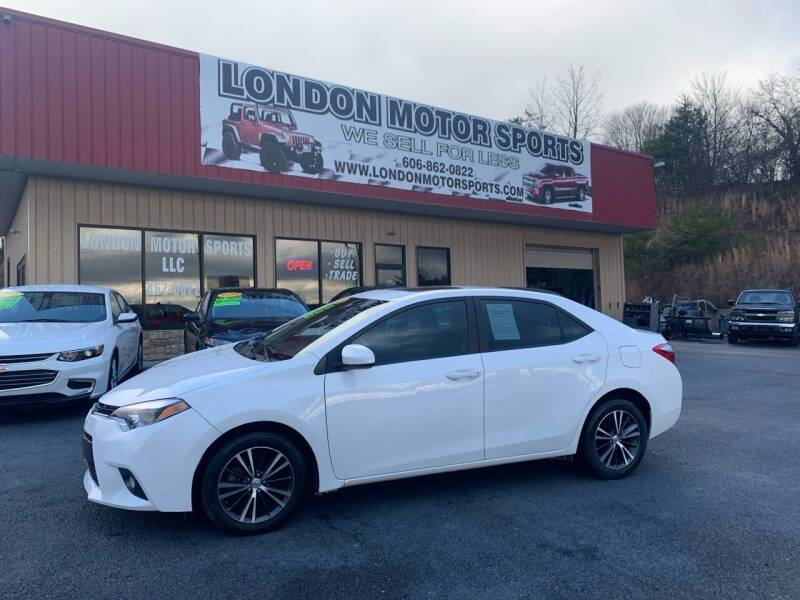 2016 Toyota Corolla for sale at London Motor Sports, LLC in London KY