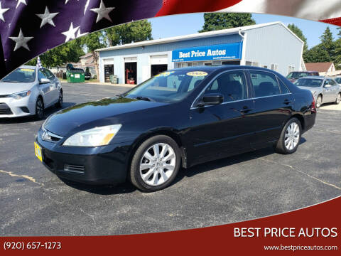2007 Honda Accord for sale at Best Price Autos in Two Rivers WI