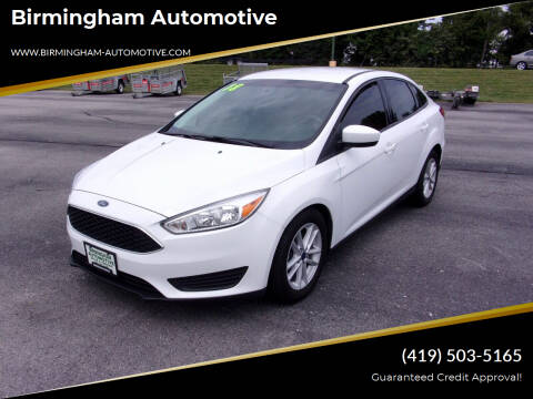 2018 Ford Focus for sale at Birmingham Automotive in Birmingham OH
