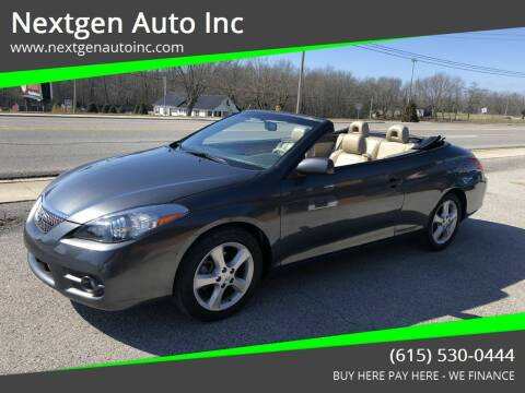 2008 Toyota Camry Solara for sale at Nextgen Auto Inc in Smithville TN