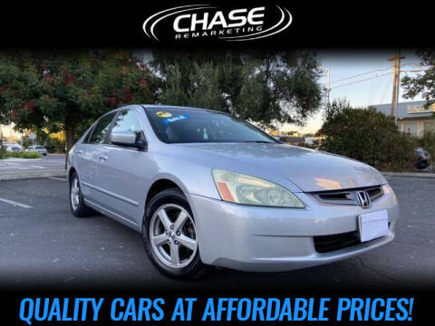 2005 Honda Accord for sale at Chase Remarketing in Fremont CA