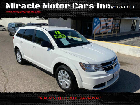 2015 Dodge Journey for sale at Miracle Motor Cars Inc. in Victorville CA