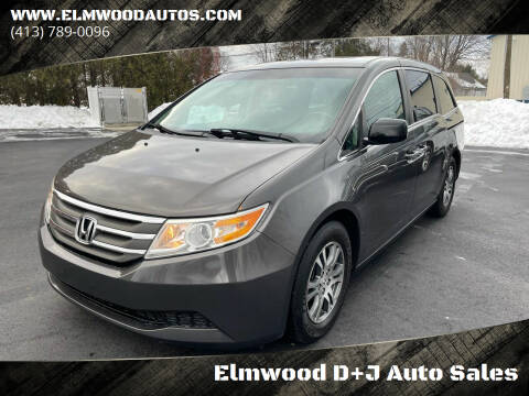 2011 Honda Odyssey for sale at Elmwood D+J Auto Sales in Agawam MA