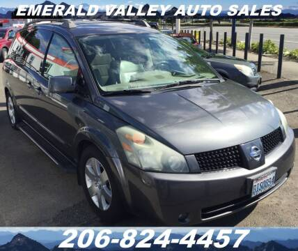 2005 Nissan Quest for sale at Emerald Valley Auto Sales in Des Moines WA