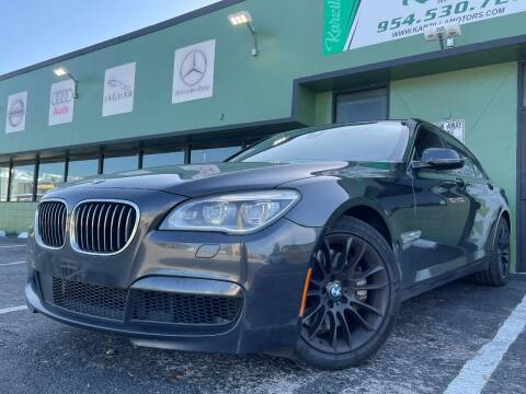 2015 BMW 7 Series for sale at KARZILLA MOTORS in Oakland Park FL