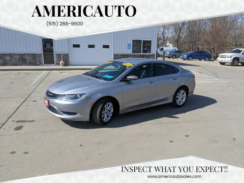 2015 Chrysler 200 for sale at AmericAuto in Des Moines IA