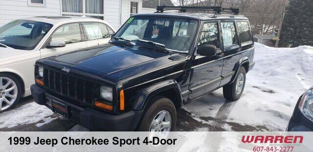 1999 Jeep Cherokee for sale at Warren Auto Sales in Oxford NY