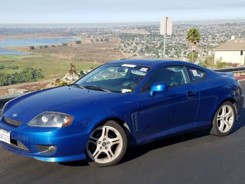 2005 Hyundai Tiburon for sale at Trini-D Auto Sales Center in San Diego CA