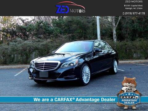 2014 Mercedes-Benz E-Class for sale at Zed Motors in Raleigh NC