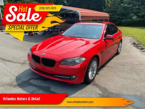 2013 BMW 5 Series for sale at Orlandos Motors & Detail in Winston Salem NC