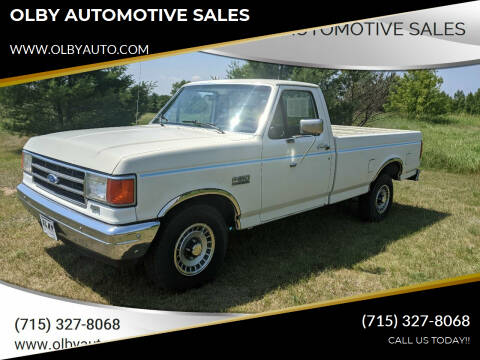 1991 Ford F-150 for sale at OLBY AUTOMOTIVE SALES in Frederic WI