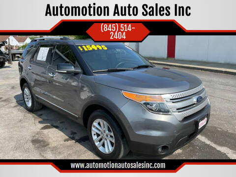 2014 Ford Explorer for sale at Automotion Auto Sales Inc in Kingston NY