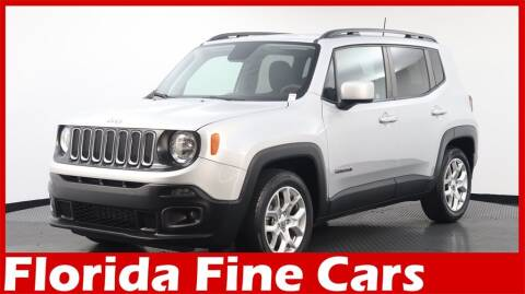 2018 Jeep Renegade for sale at Florida Fine Cars - West Palm Beach in West Palm Beach FL