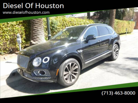 2018 Bentley Bentayga for sale at Diesel Of Houston in Houston TX