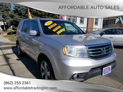 2013 Honda Pilot for sale at Affordable Auto Sales in Irvington NJ