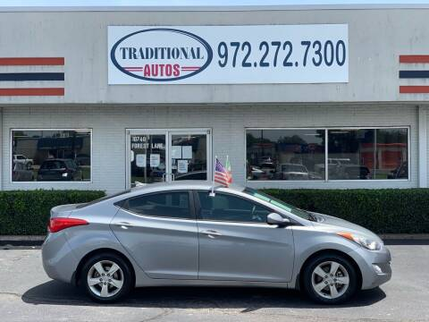 2013 Hyundai Elantra for sale at Traditional Autos in Dallas TX