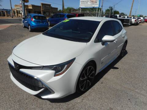 2019 Toyota Corolla Hatchback for sale at AUGE'S SALES AND SERVICE in Belen NM