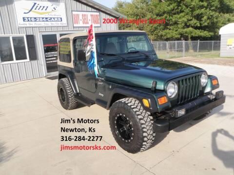 2000 Jeep Wrangler for sale at Jim's Motors in Newton KS
