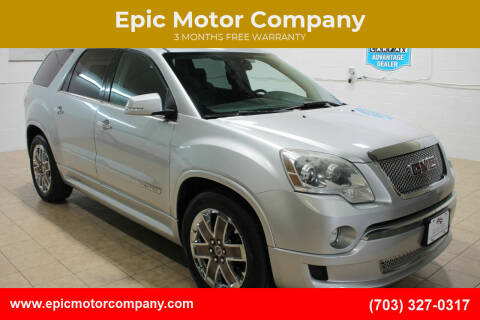 2012 GMC Acadia for sale at Epic Motor Company in Chantilly VA