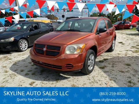 2008 Dodge Caliber for sale at SKYLINE AUTO SALES LLC in Winter Haven FL