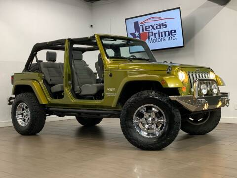 2008 Jeep Wrangler Unlimited for sale at Texas Prime Motors in Houston TX